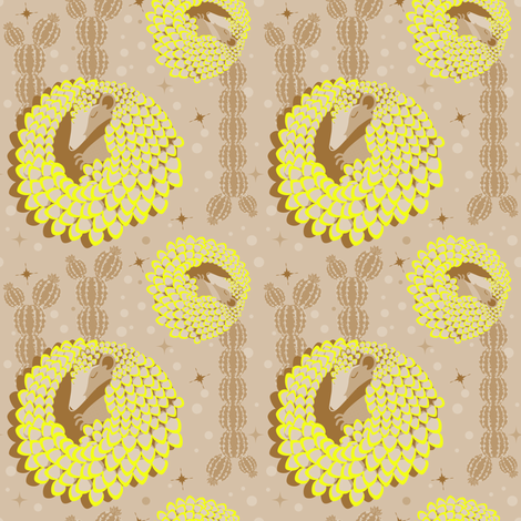 PangolinDream fabric by happyhappymeowmeow on Spoonflower - custom fabric