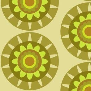 olive geo flower