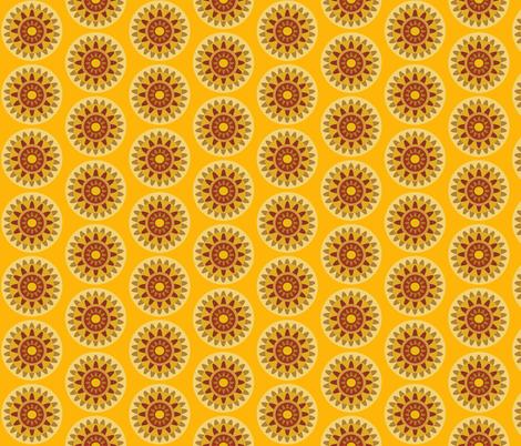 mustard geo fabric by dnbmama on Spoonflower - custom fabric