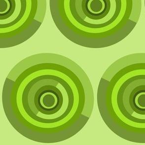 semi circle green