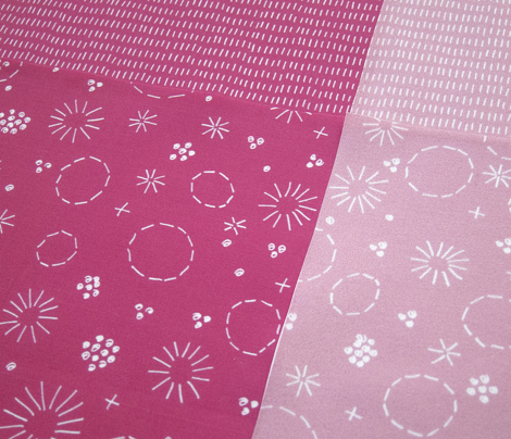 Carthusian Pink Stitches on Pink