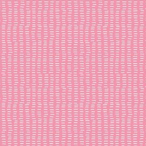 Carthusian Pink Stitches on Light PInk