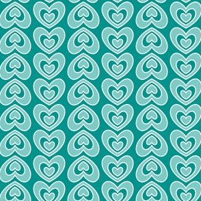 Nested Hearts (Teal)