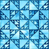 sierpinski triangle mosaic blue/black small