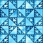 sierpinski triangle mosaic blue/black small