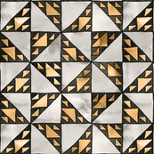 sierpinski triangle mosaic gold small