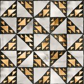 sierpinski triangle mosaic gold small