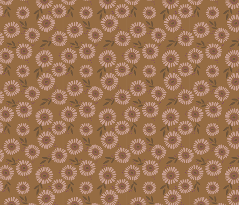 Daisy Patch Mustard fabric by laura_hankins on Spoonflower - custom fabric