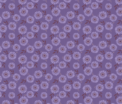 Daisy Patch Violet fabric by laura_hankins on Spoonflower - custom fabric
