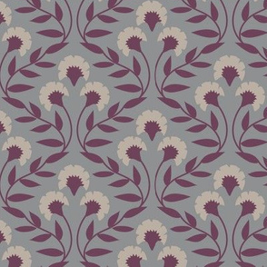 Trellis Floral Grey