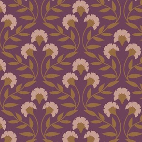 Trellis Floral Rasberry