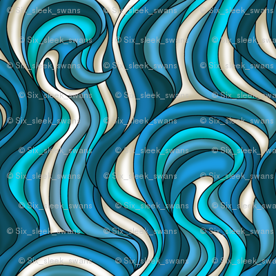 Waves of blue and turquoise