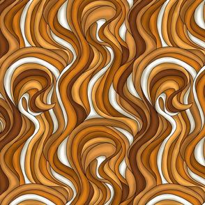 Waves of brown hair