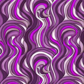 Wavy purple hairstyle