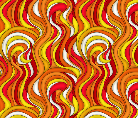 Tongues of fire fabric by sixsleekswans on Spoonflower - custom fabric