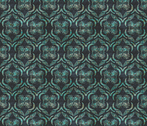 FRENCH_LINEN_GEO_FLORAL_MULTI fabric by holli_zollinger on Spoonflower - custom fabric
