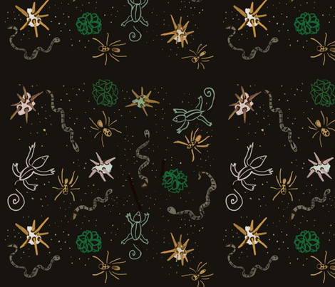 Desert Animals fabric by francine's_art on Spoonflower - custom fabric