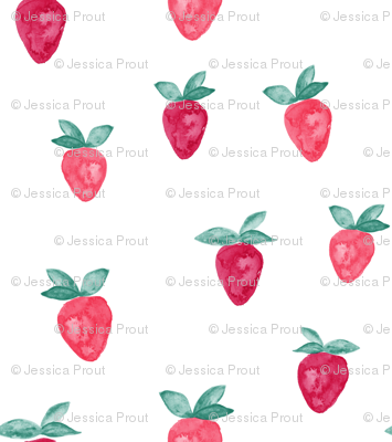watercolor strawberries || bold
