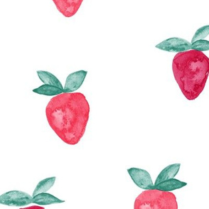 (large) watercolor strawberries || bold