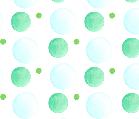 Blue Green Watercolor Dot