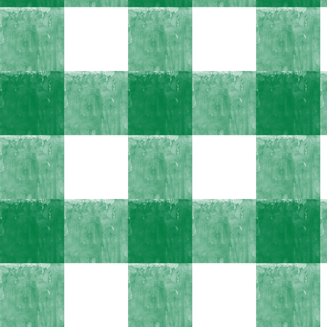 St. Patricks day plaid - green gingham check fabric by littlearrowdesign on Spoonflower - custom fabric
