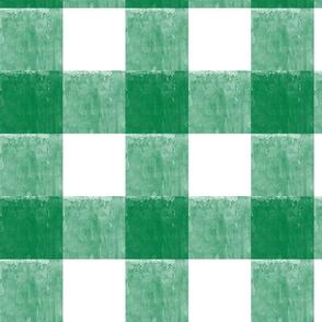 St. Patricks day plaid - green gingham check