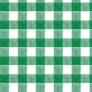 St. Patricks day plaid (small scale) - green gingham check