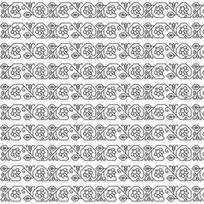 Bassee flower border plate 59D