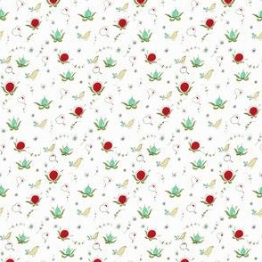 Spring Fruit Birds Heart Scandinavian Garden