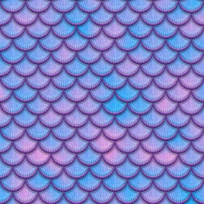 Cotton Candy Mermaid Scales