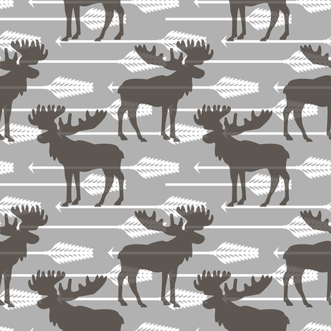 moose arrow fabric by teart on Spoonflower - custom fabric