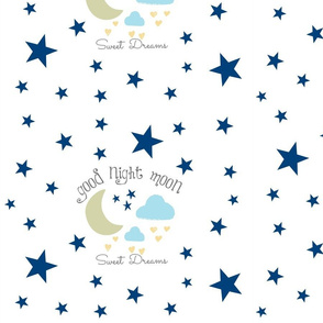 Moon Sweet Dreams 14- navy on white