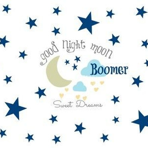 Moon Sweet Dreams 7- navy on white PERSONALIZED Boomer