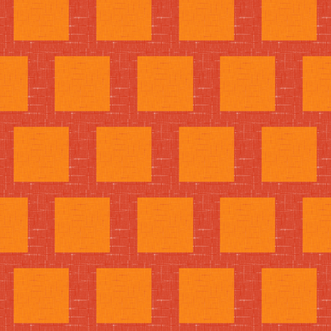 Summer Orange Squared 1 fabric by anniedeb on Spoonflower - custom fabric