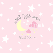 Moon Sweet Dreams 7-baby pink PERSONALIZED Hannan