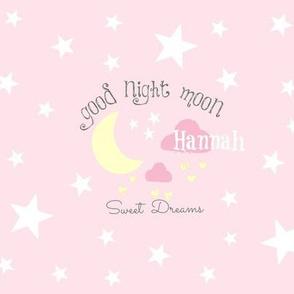 Moon Sweet Dreams 933-baby pink PERSONALIZED Hannan