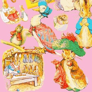 Beatrix Potter Pastiche in Potter Pink
