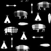 Buffalo Check Buffalo // Black // First Nations Collection