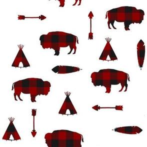 Buffalo Tribe // Red Check // Small