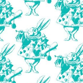 The White Rabbit with Teal