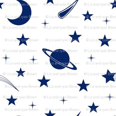 Starry Sapphire Sky