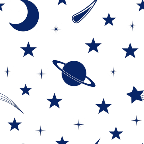 Starry Sapphire Sky fabric by thinlinetextiles on Spoonflower - custom fabric