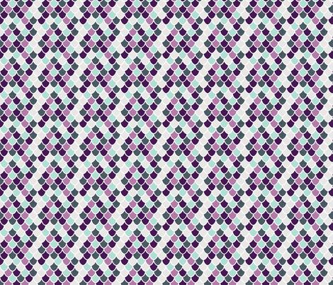 purple + aqua mermaid scales // small fabric by ivieclothco on Spoonflower - custom fabric
