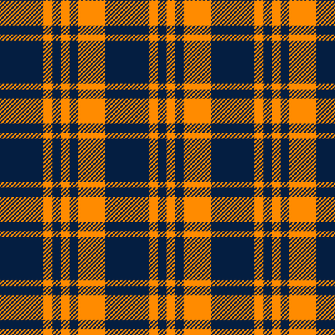 Plaid || The great outdoors - navy and orange fabric by littlearrowdesign on Spoonflower - custom fabric