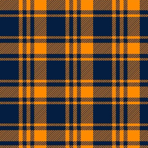 Plaid || The great outdoors - navy and orange