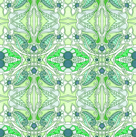 Waving to Spring fabric by edsel2084 on Spoonflower - custom fabric