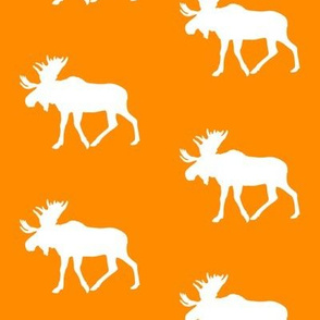 moose on orange || the great outdoors collection