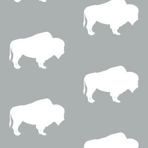 buffalo on grey || the great outdoors collection