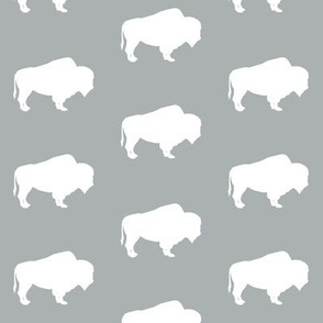 buffalo on grey (small scale) || the great outdoors collection