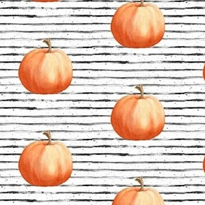 Pumpkin Fabric Wallpaper Gift Wrap Spoonflower